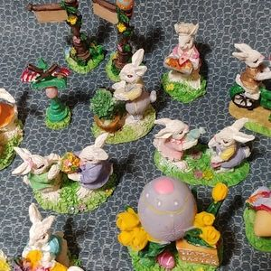 Miniature Resin Easter Knick Knack Collection
